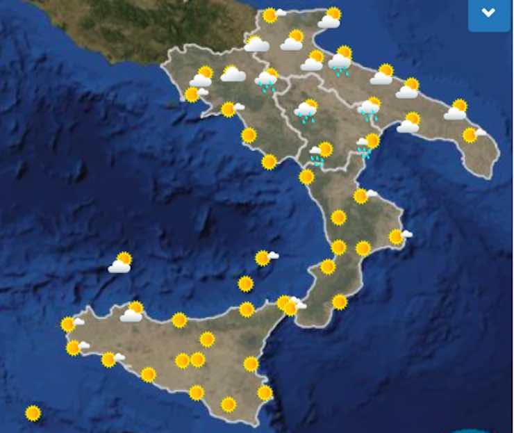 Meteo Cartina Italia.Previsioni Meteo Sud Italia Nel Weekend Sabato 27 E Domenica 28 Luglio