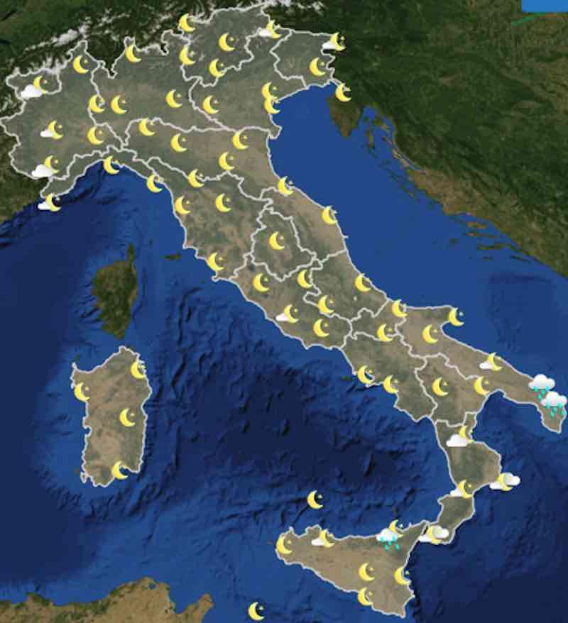 mappa ore 18 martedì - Previsioni meteo oggi e domani martedì 16 e mercoledì 17 luglio in Italia - meteoweek.com