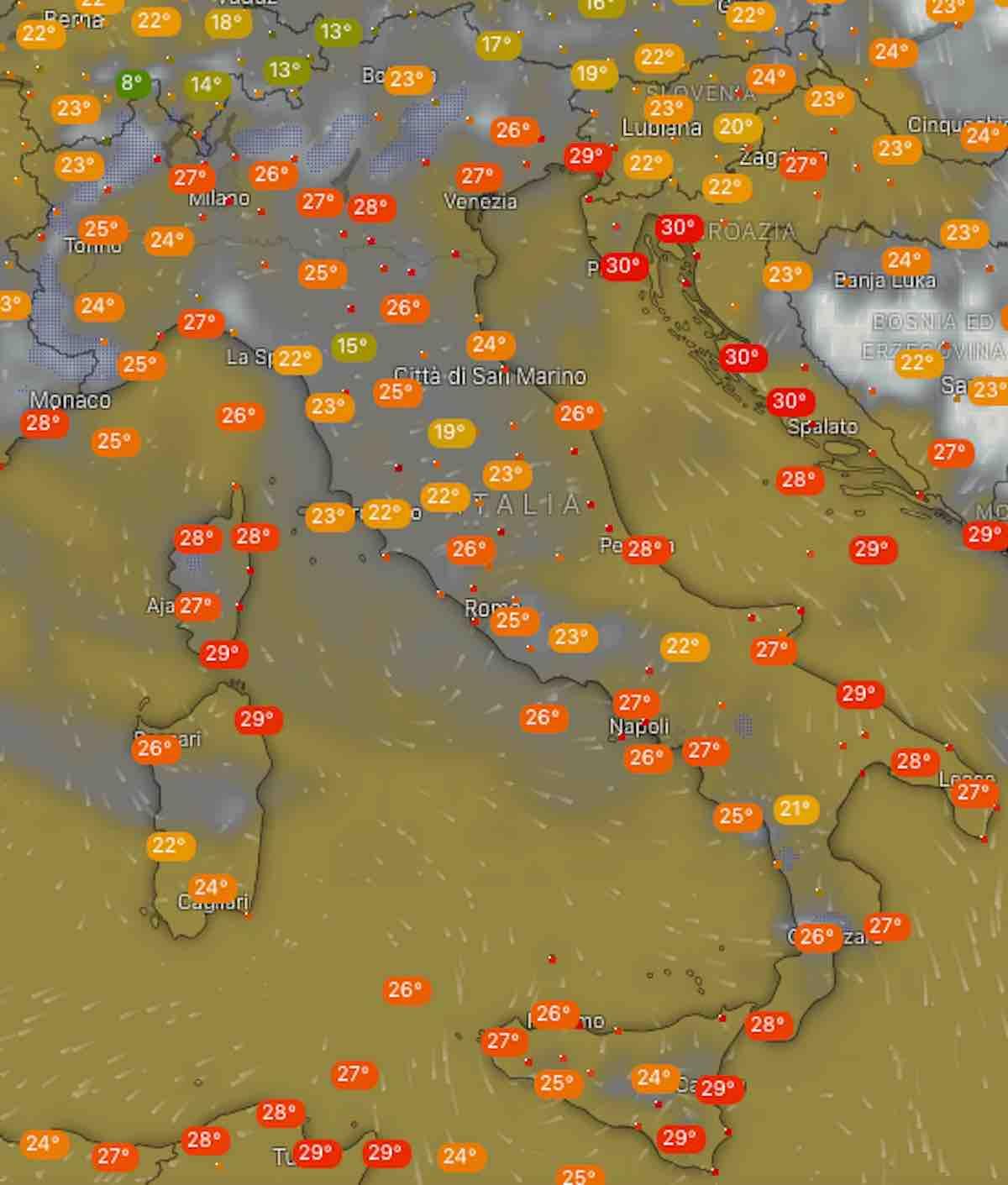 Settimana di caldo intenso, soprattutto in alcune regioni
