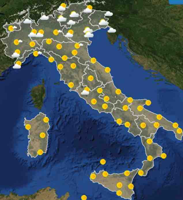 09/08/2019, le previsioni meteo per Viterbo e Italia