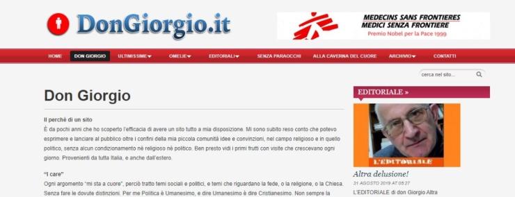 Don Giorgio: nuovo Governo instabile ma sempre meglio di Salvini | VIDEO