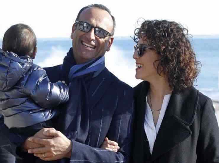 Carlo Conti con la famiglia chi e - meteoweek