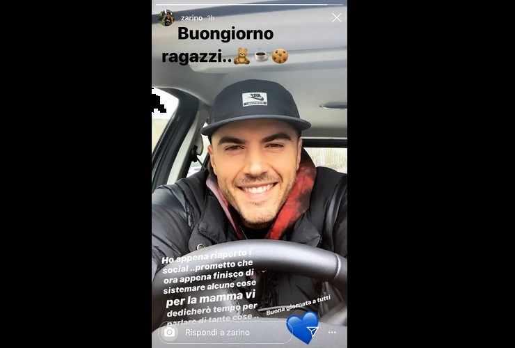 Alessandro Zarino torna sui social meteoweek