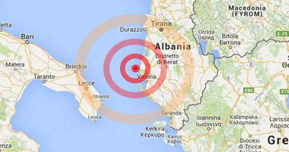 Terremoto Puglia Albania