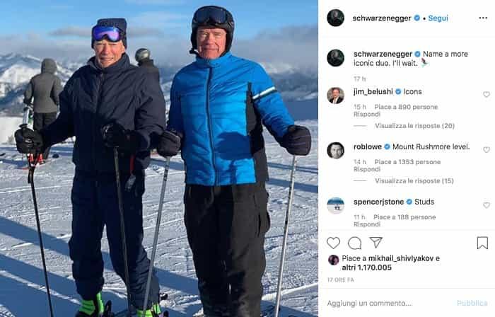 Clint Eastwood e Arnold Schwarzenegger su instagram