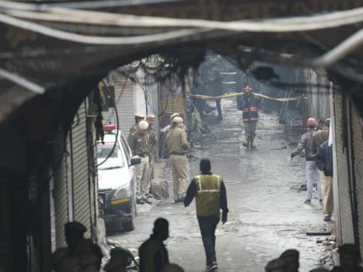 incendio a New Delhi