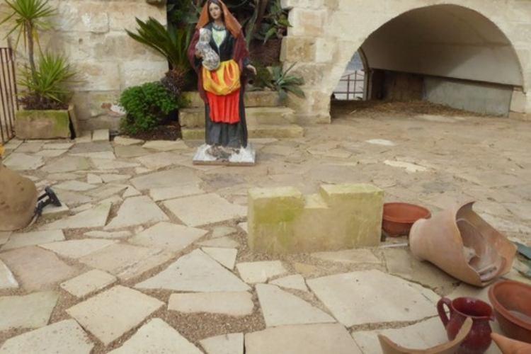 Presepe Lecce vandali