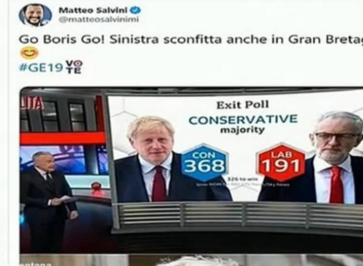 salvini esulta elezioni gb