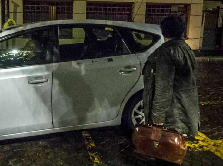 taxista spacca il naso a cliente