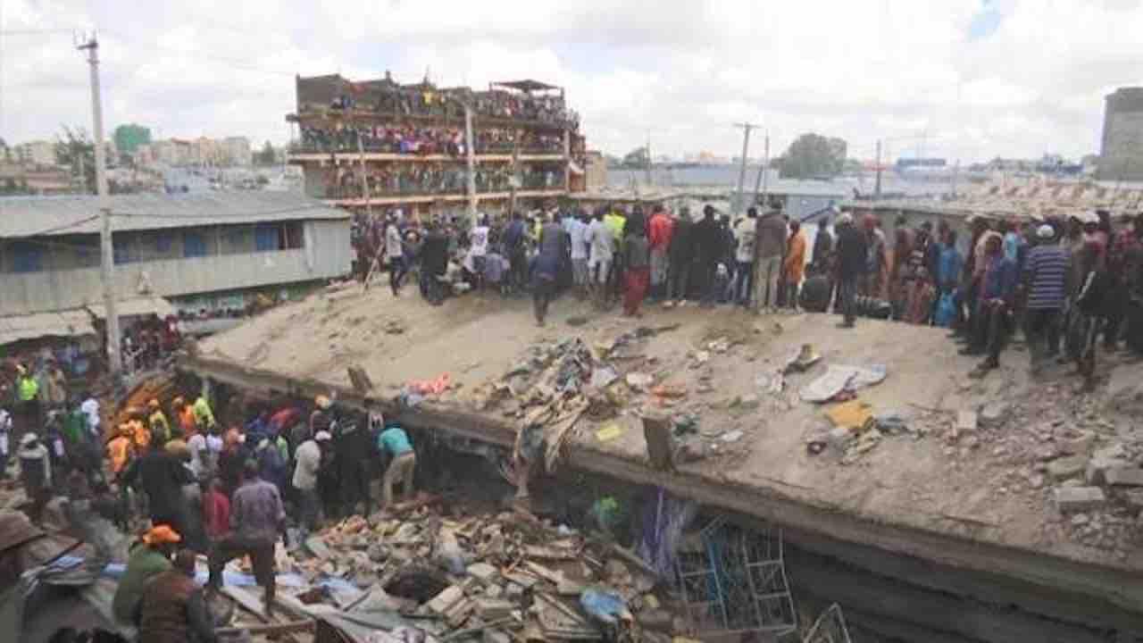 Palazzo crollato in Kenya: paura a Nairobi