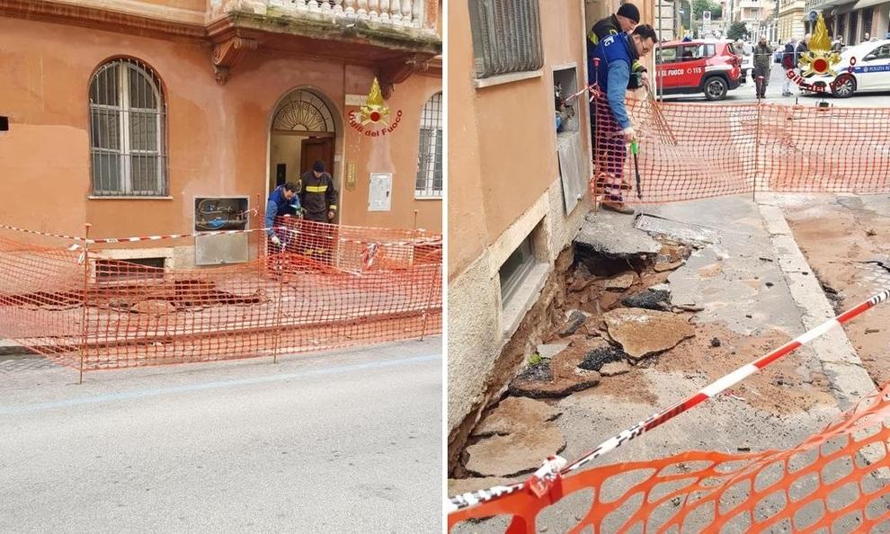Roma, strada pericolante: evacuati gli inquilini di uno stab