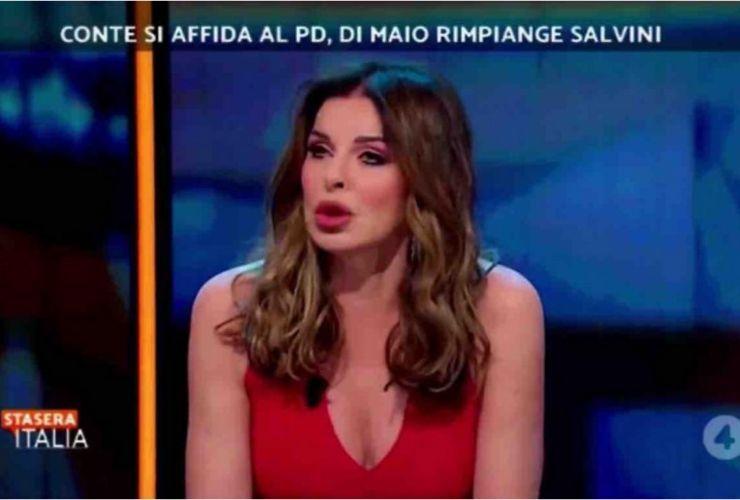 Alba Parietti a Stasera Italia