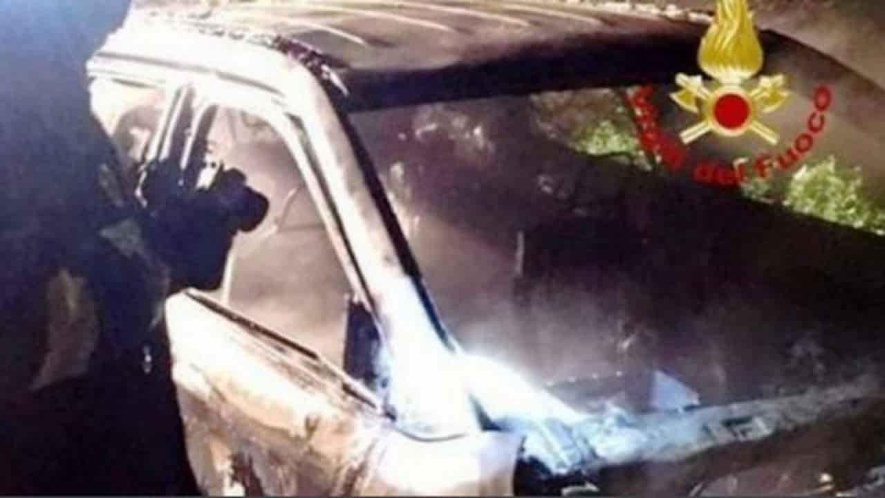 Giuseppe Catalano - morto, auto in fiamme a Roma
