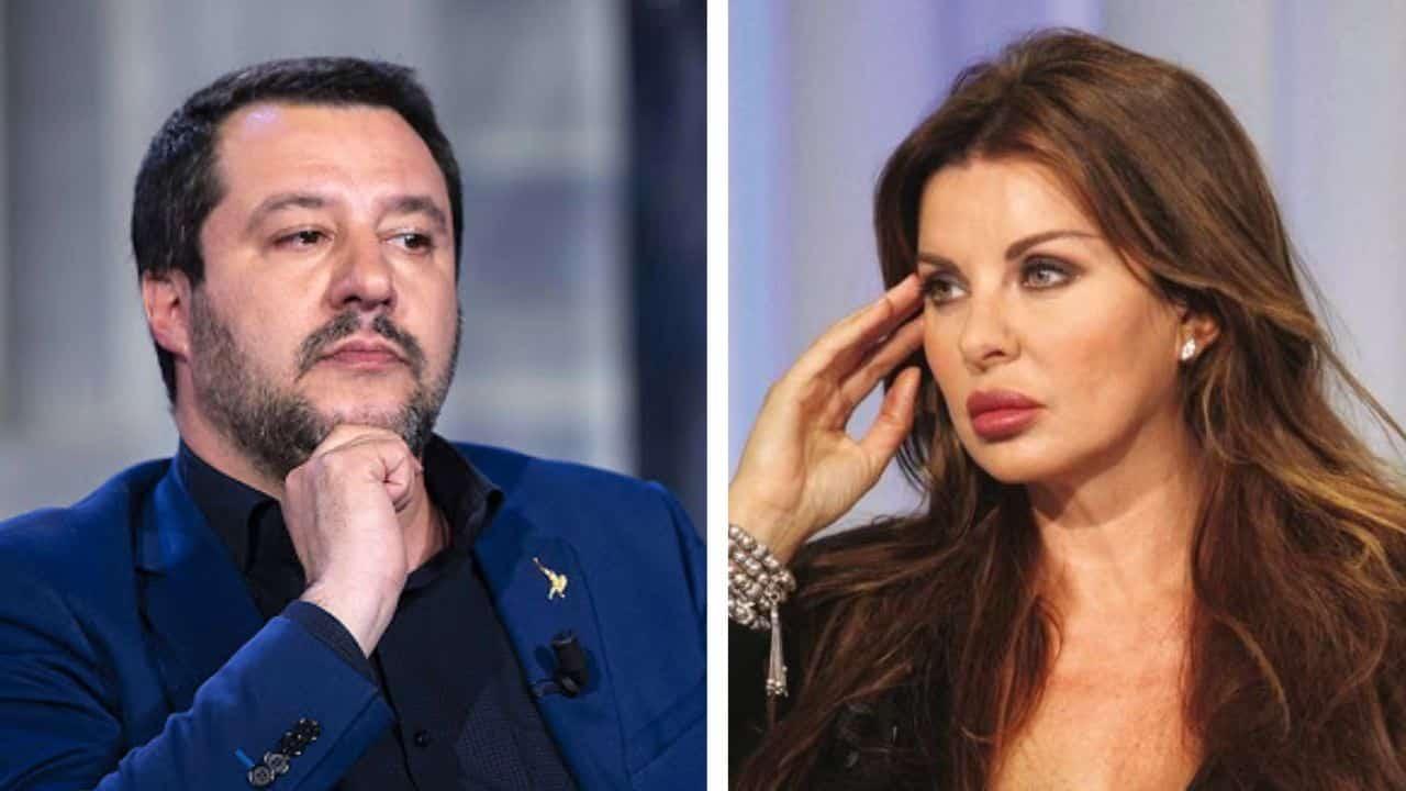 Matteo Salvini e Alba Parietti