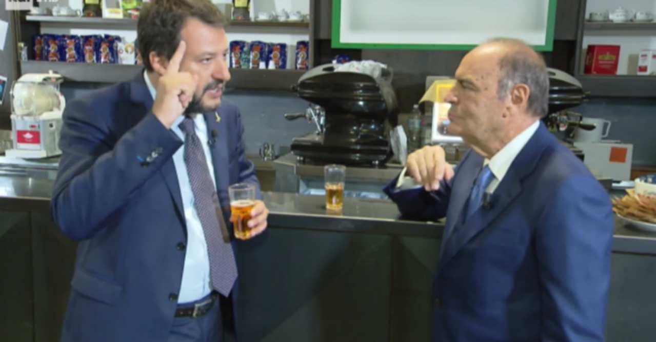 Porta a Porta: Spot Salvini durante Juventus Roma, Zingarett