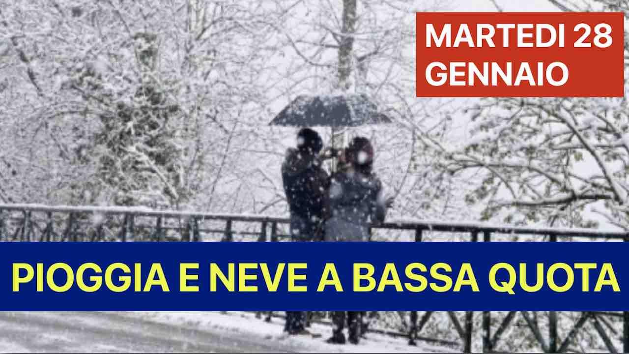 Previsioni Meteo oggi martedì 28 gennaio | Temporali e neve