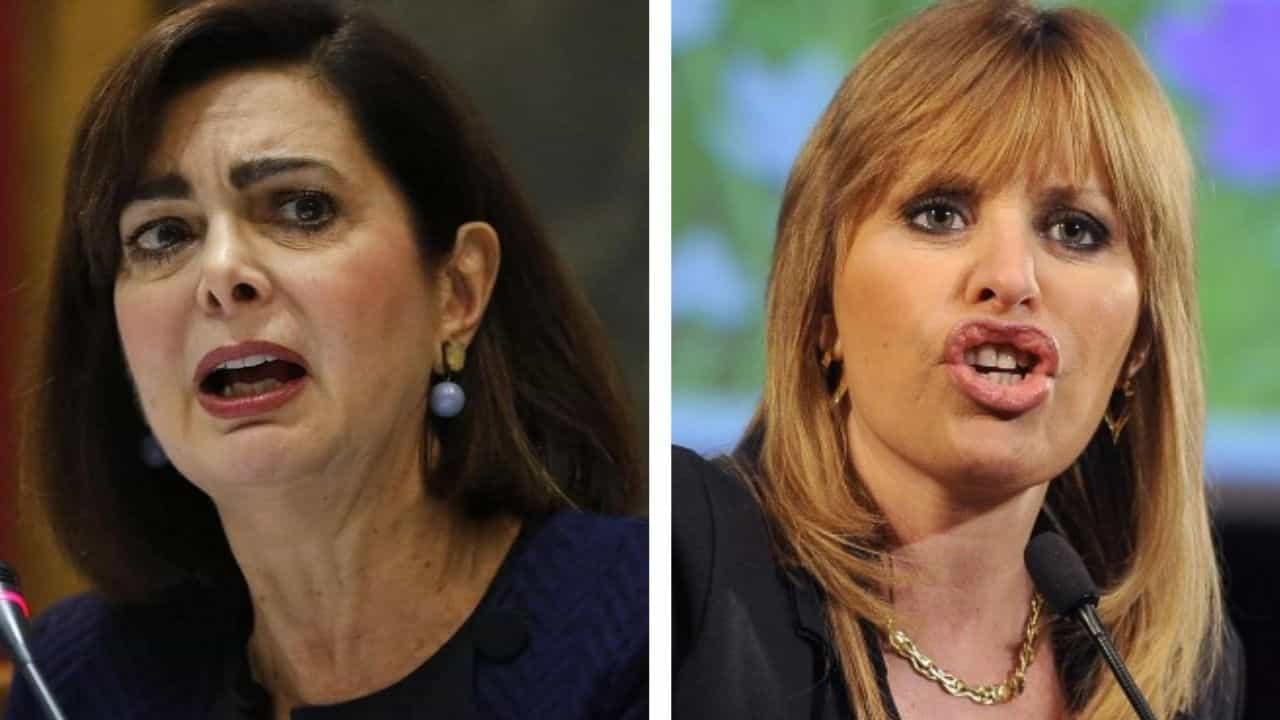 Laura Boldrini e Alessandra Mussolini