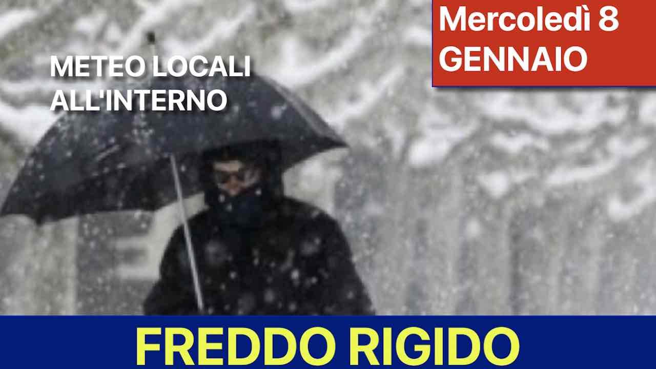 Previsioni Meteo Domani Mercoledi 8 Gennaio Nuvoloso E