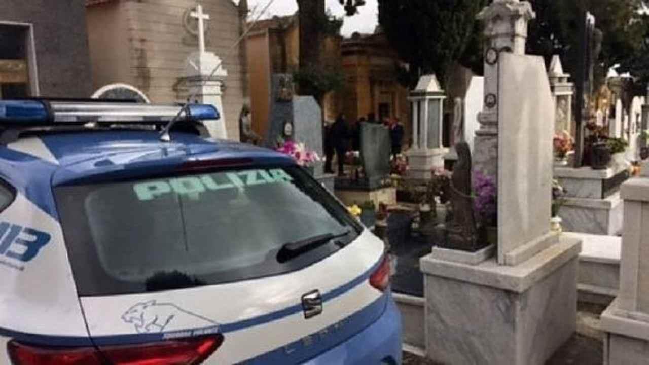 rissa al cimitero per un'eredità