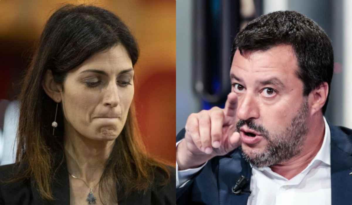 Scontro Raggi – Salvini, la sindaca attacca l'ex vicepremier