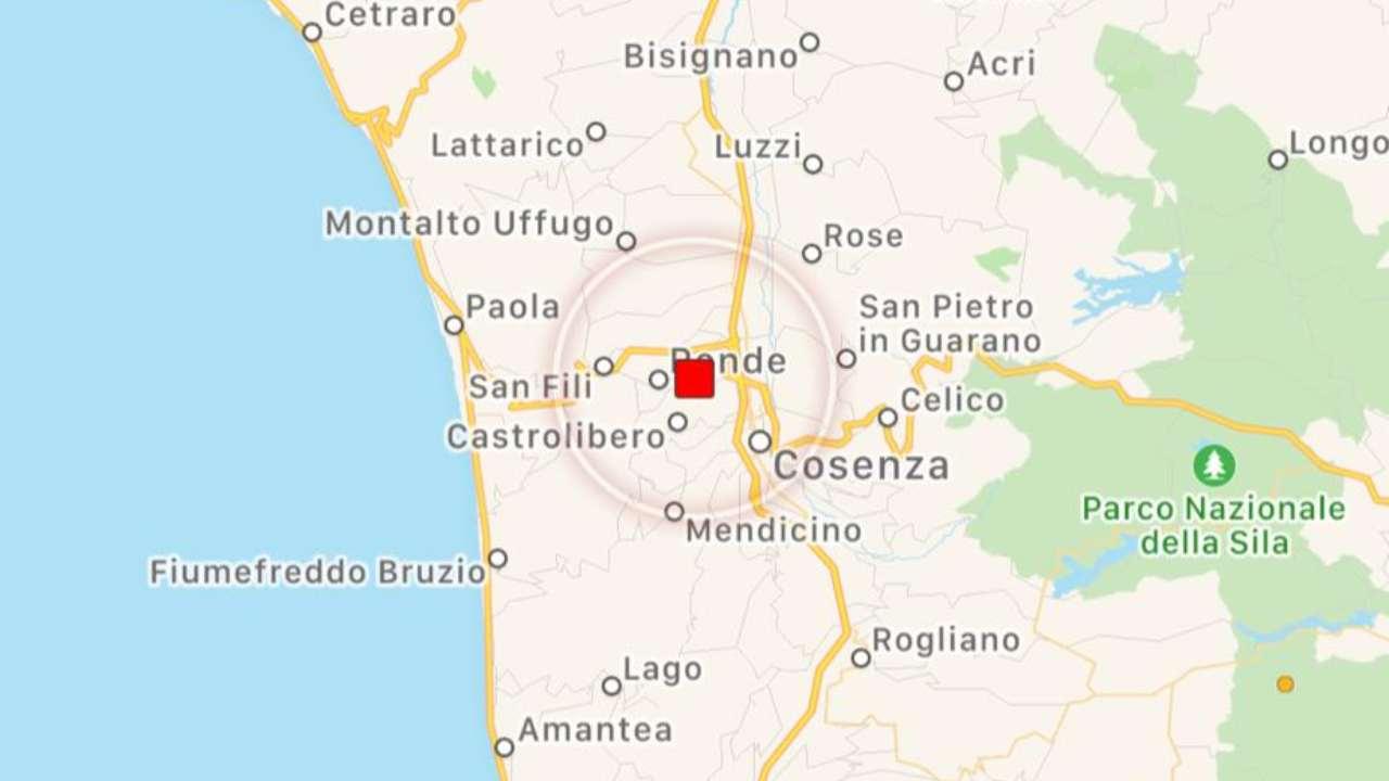 Terremoto in Calabria, forte scossa a Cosenza