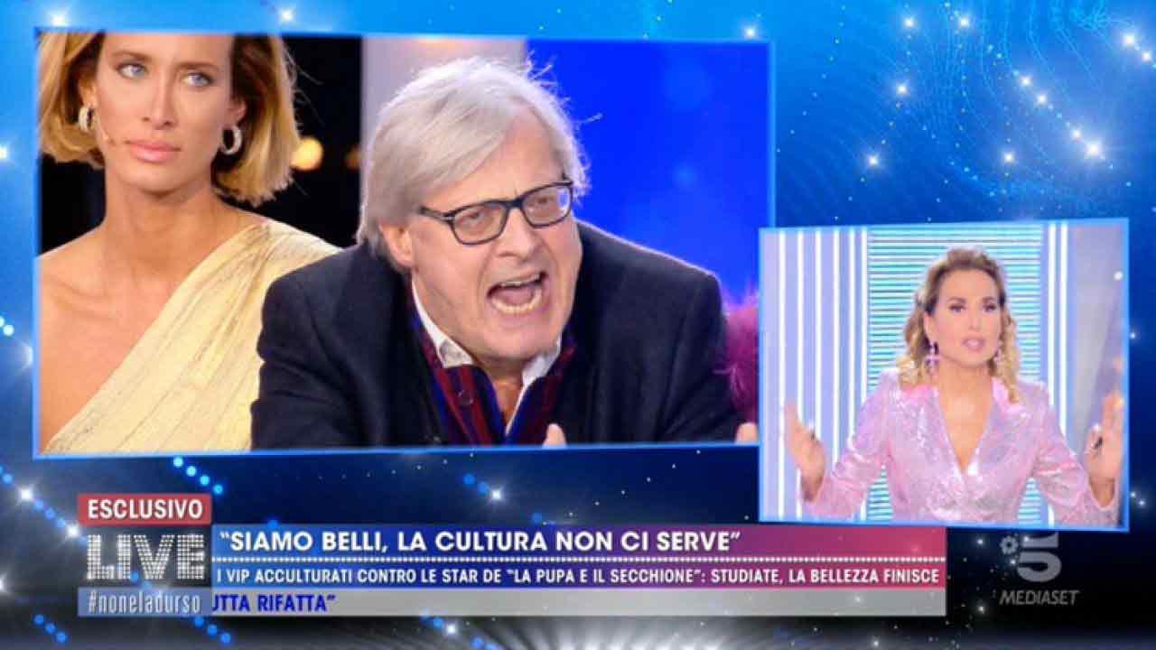 Vittorio Sgarbi punito dopo la lite con Barbara D'Urso | Il