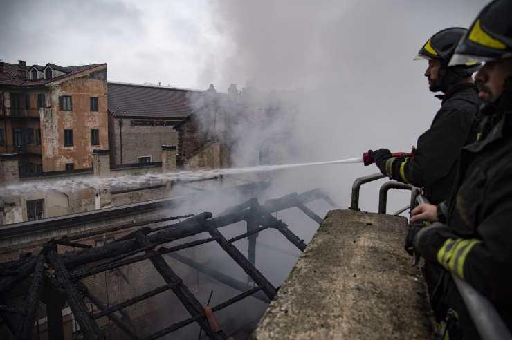 incendio palazzo giustizia