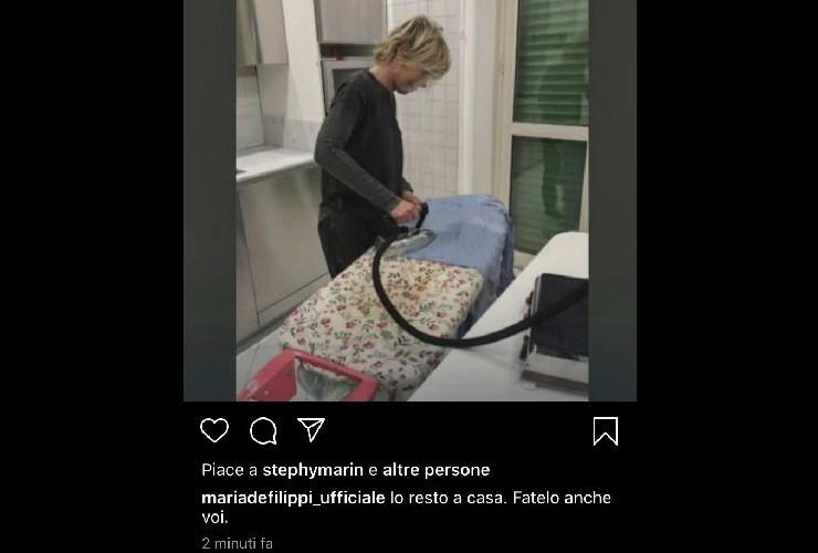 Maria De Filippi casalinga quarantena