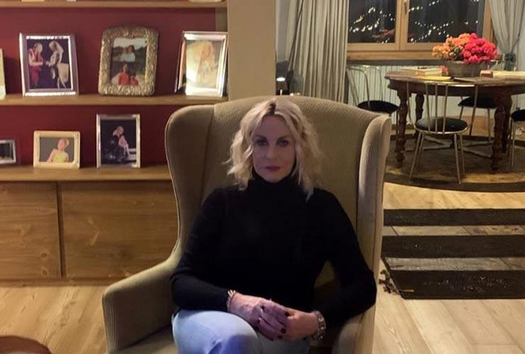 Antonella Clerici a casa