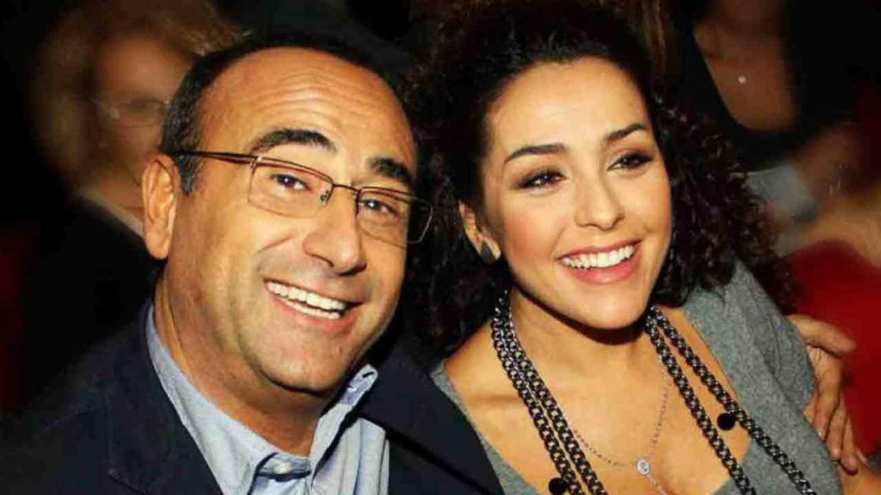 Carlo Conti e la moglie Francesca