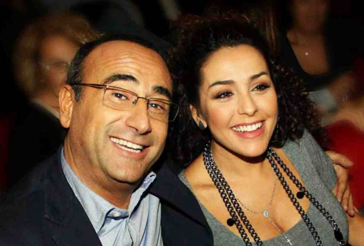 Carlo Conti e la moglie