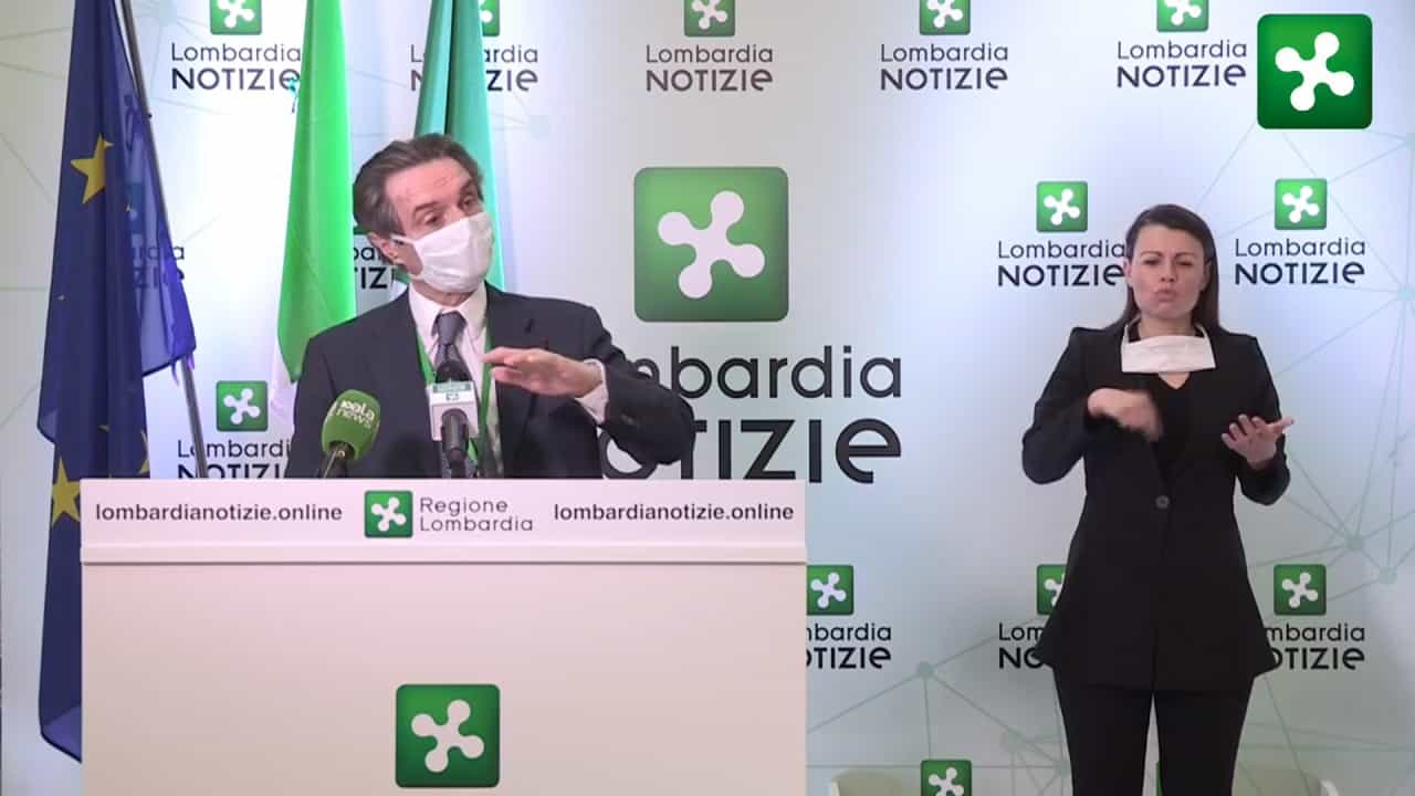 """Coronavirus, Fontana: """"In Lombardia la linea dei contagi non"""