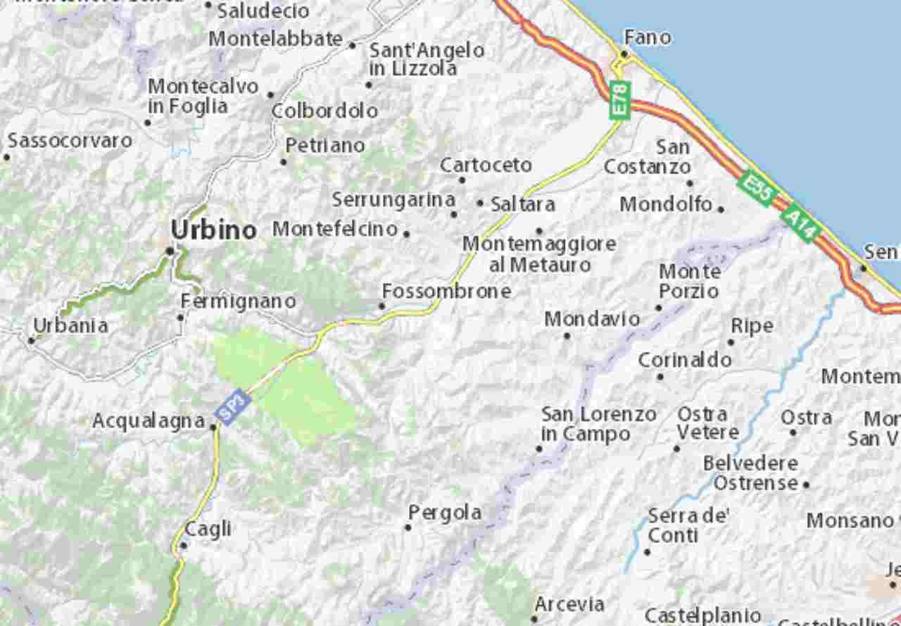 Forte scossa di terremoto a Sant'Ippolito, Pesaro Urbino