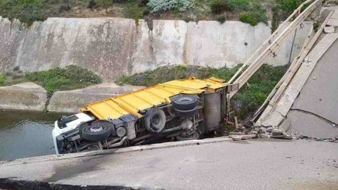 crollo ponte sulcis