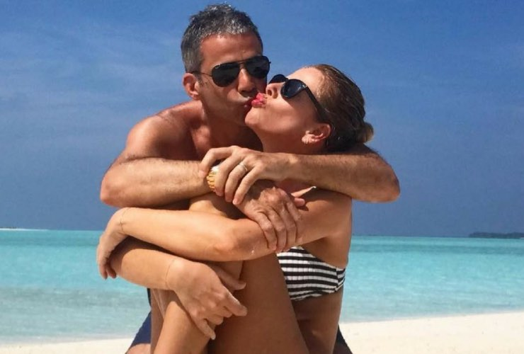 Alessia Marcuzzi e Paolo Calabresi - meteoweek