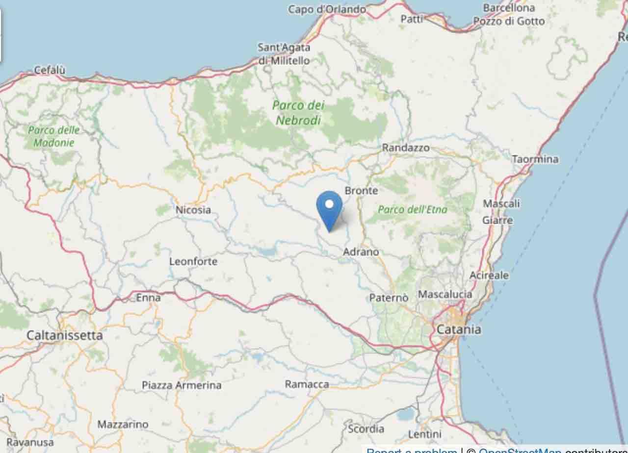 Forte scossa di Terremoto ml 3.2 in provincia di Catania