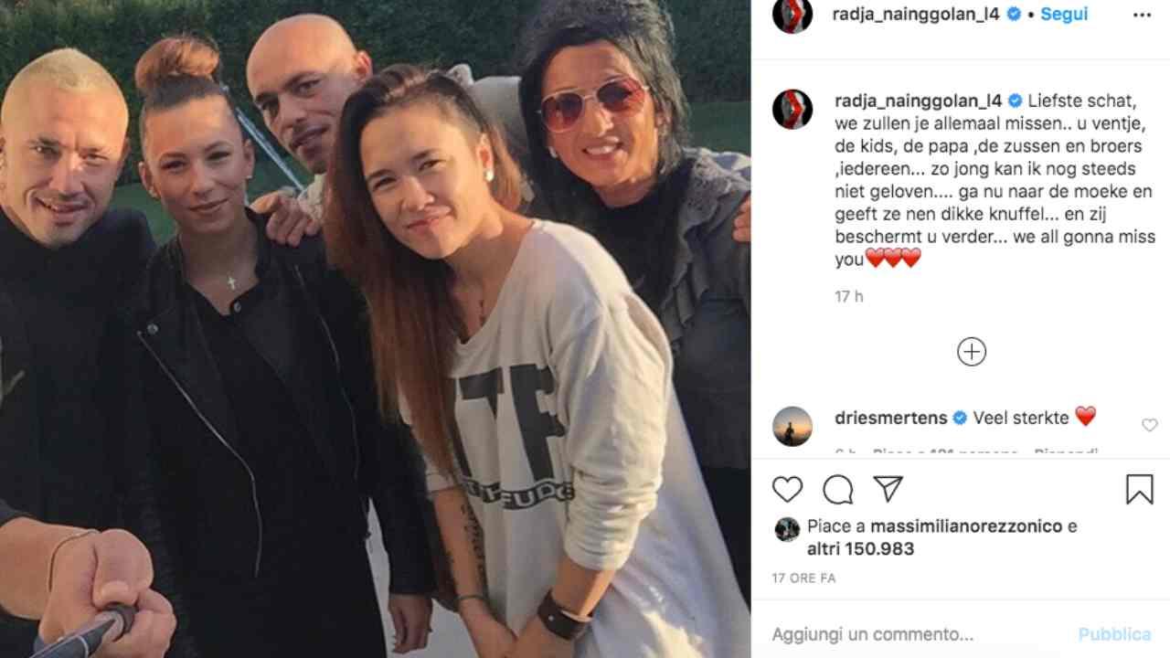 Radja Naingollan in lutto: la nipote è morta di cancro