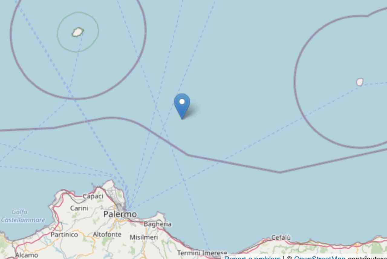 Forte scossa di terremoto ml 3 costa Siciliana settentrional