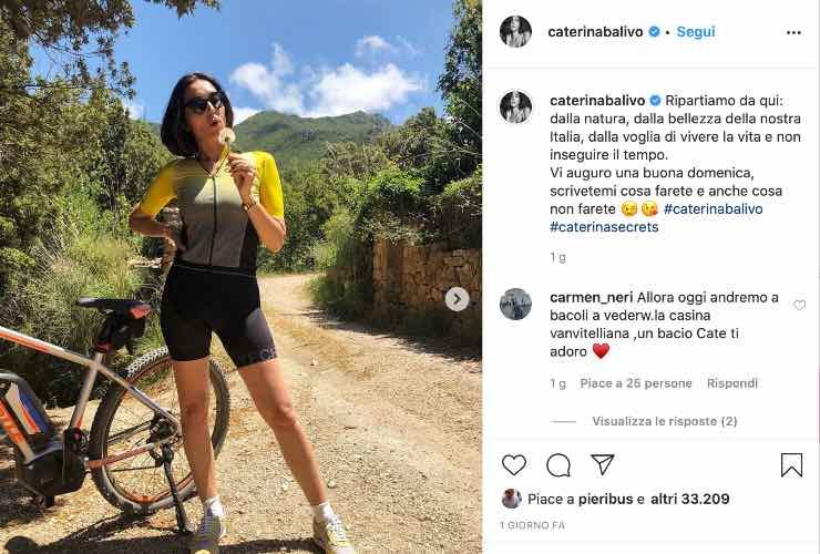 La conduttrice su Instagram - meteoweek