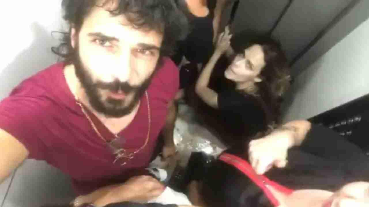 Marco Bocci e Laura Chiatti chiusi in ascensore