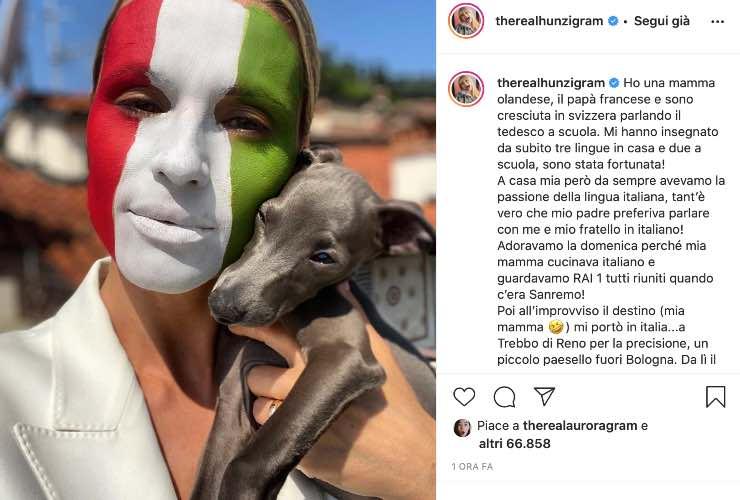 Michelle Hunziker su Instagram - meteoweek