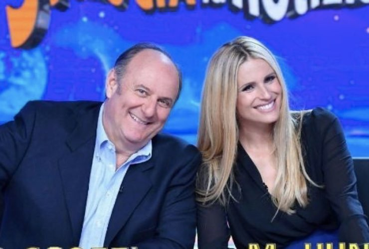 Michelle Hunziker e Gerry Scotti - meteoweek