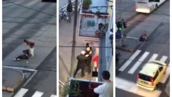 38enne straniero accoltella due uomini