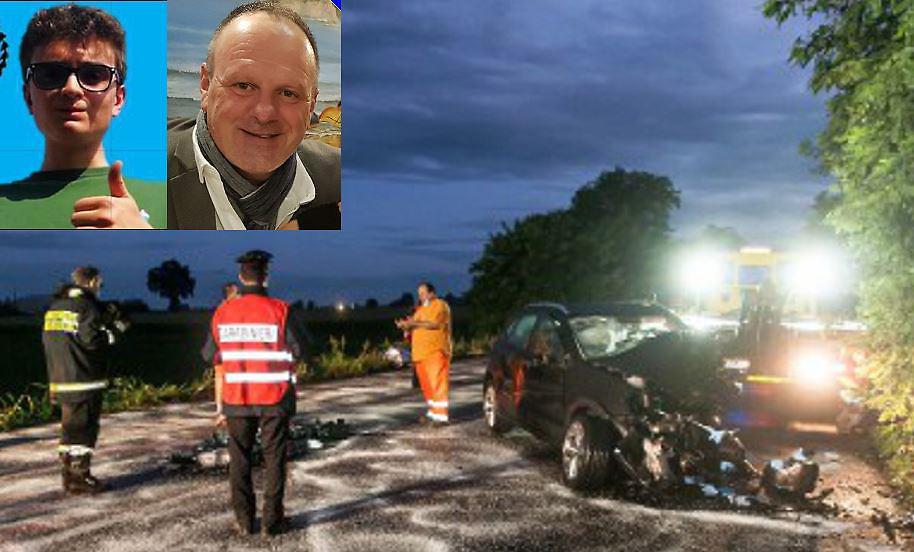 Frontale fra due auto: morti un uomo e un ragazzo