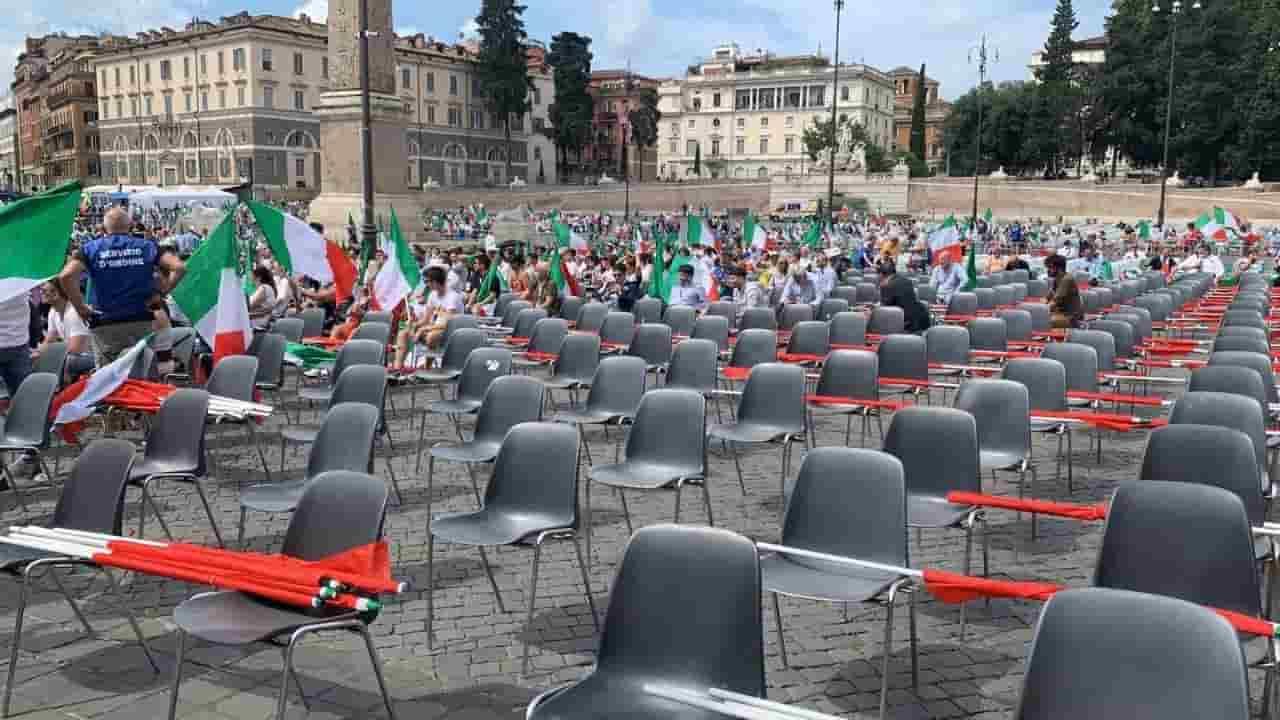 Manifestazione centrodestra - poca partecipazione