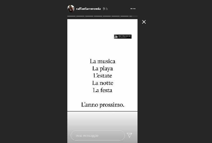 Raffaella Mennoia stacca tutto
