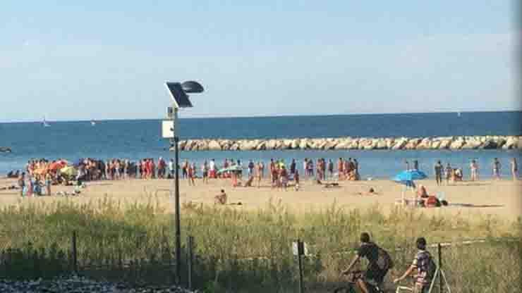 Yrina Dtomemchuk Pesaro muore in mare davanti marito e figlio