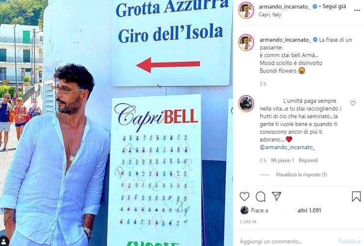 Riccardo Guarnieri instagram, post malinconico: perché è finita con Ida Platano?