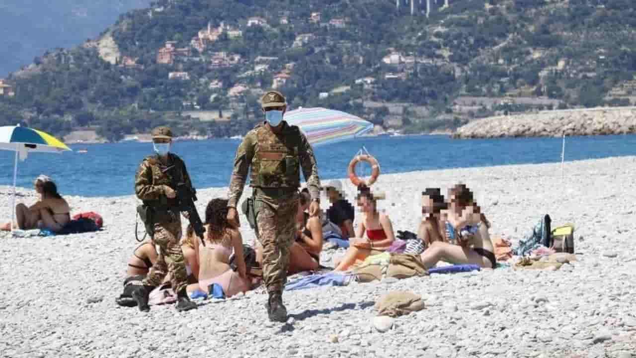 spiaggia Ventimiglia militari