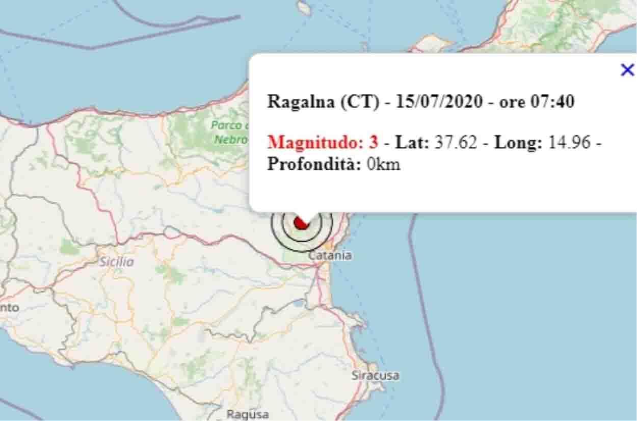 Scossa di terremoto ai piedi dell'Etna